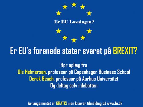 Er EU's forenede stater svaret på Brexit?