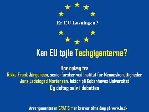 Kan EU tøjle techgiganterne?