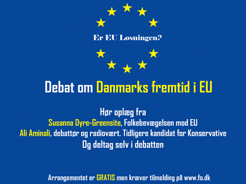 Debat om Danmarks fremtid i EU